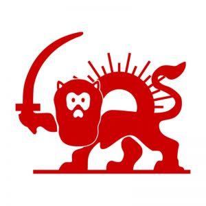 lion-et-soleil rouge